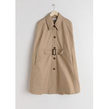 Belted Trench Cape - Beige
