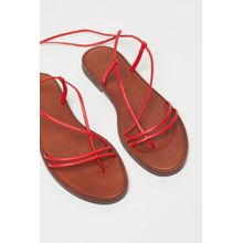 H & M - Ledersandalen - Red - Damen