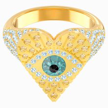 Lucky Goddess Heart Motivring, mehrfarbig, Vergoldet