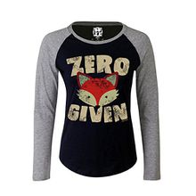 Damen Raglan Baseball T Shirt Zero FOX Given Funny Womens von Buzz Shirts