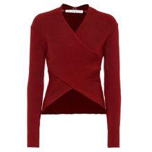 Pullover V Wrap aus einem Baumwollgemisch