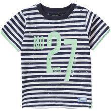 BLUE SEVEN T-Shirt blau / weiß