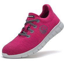 Giesswein Merino Runner Women Damen Merino Wolle Schuhe Sneaker Schnürschuhe, Farbe:Himbeere 360;Größe:EUR 36