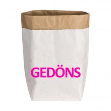 Paperbag Gr. M Gedöns weiß/pink