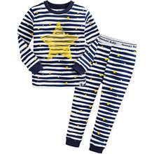 Vaenait Baby Kinder Jungen Nachtwaesche Schlafanzug-Top Bottom 2 Stueck Set Bling Blue XL