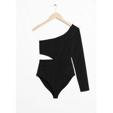One-Shoulder Bodysuit - Black