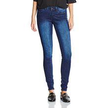 TOM TAILOR Denim Damen Jeanshose Jona Extra Skinny Blue, Grau (Dark Stone Wash Denim 1053), W29/L30 (Herstellergröße: 29)