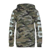 BUFFALO Kapuzensweatshirt khaki / grasgrün / schwarz