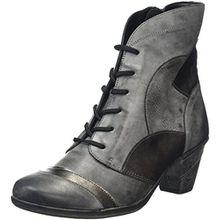 Remonte Damen D8774 Combat Boots, Grau (Negro/Altsilber/Asphalt 01), 40 EU