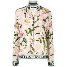 Dolce & Gabbana Trainingsjacke mit Lilien-Print - Rosa