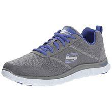 Skechers Flex AppealSimply Sweet, Damen Sneakers, Grau (GYPR), 41 EU