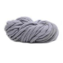 Souarts dicker Garn weicher Roving Sperrige für Hüte Schals Decken DIY Handwerk Grau