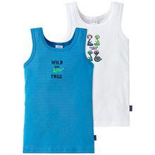 Schiesser Jungen Unterhemd Hemd 0/0, 2er Pack, Gr. 116, Mehrfarbig (sortiert 1 901)