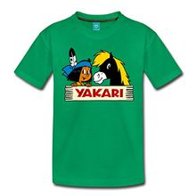 Spreadshirt Yakari & kleiner Donner Kinder Premium T-Shirt, 110/116 (4 Jahre), Kelly Green