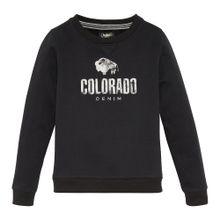 Colorado Denim Sweatshirt 'BRYCE' schwarz / weißmeliert