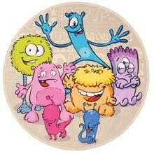 Kinderteppich Lovely Kids, Lustige Aliens, rund, 100 cm