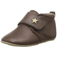Bisgaard Unisex Baby Velcro Star Pantoffeln, Braun (60 Brown), 18 EU