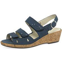 Waldlaufer Schmuckstück Womens Wedge Heel Sandalen 38.5 EU Marineblau Nubuk