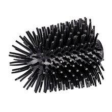 Wenko 22242100 Ersatzbürstenkopf für WC-Garnituren und Bürstenhalter, Silikon, schwarz, 7,5 x 7,5 x 9,3 cm
