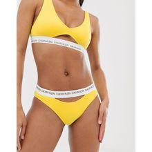 Calvin Klein - Gelber Bikiniunterteil mit Zierausschnitt - Gelb