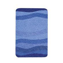 Kleine Wolke 5510791427Miami Badteppich Polyacryl blau, blau, 60 x 90 cm