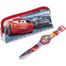 Set mit LCD Uhr und Täschchen Cars 3 Jungen Kinder