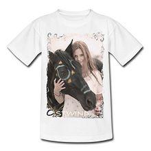 Spreadshirt OSTWIND Aufbruch Nach Ora Mika Und Ostwind Foto Teenager T-Shirt, 134/146 (9-11 Jahre), Weiß