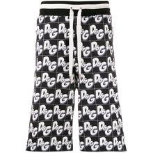 Dolce & Gabbana Shorts mit Logo-Print - Schwarz