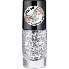 Essence Nägel Nagellack Glitter On Glitter Off Peel Off Nail Polish Nr. 05 Strarlight Express 8 ml