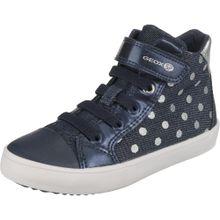 GEOX Sneakers High 'Gisli Girl' blue denim / dunkelblau / silber