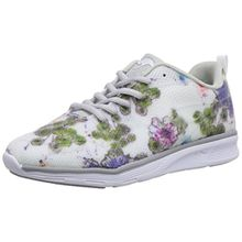 KangaROOS K- Light 8003, Damen Sneakers, Weiß (white with flower print 094), 42 EU