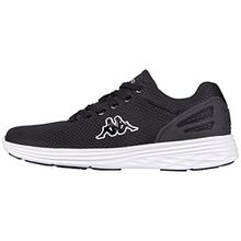 Kappa Trust, Unisex-Erwachsene Sneakers, Schwarz (1110 Black/White), 44 EU (9.5 Erwachsene UK)
