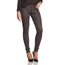 ONLY Damen Skinny Jeans Ultimate Soft Reg. Coated Noos, Gr. 34/L30 (Herstellergröße: XS/30), Grau (Asphalt)