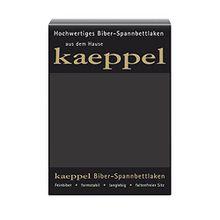 KAEPPEL Biber-Spannbettlaken anthrazit 180-200X200 CM