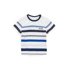 Kids-T-Shirt aus strukturiertem Jersey mit Strickstreifen