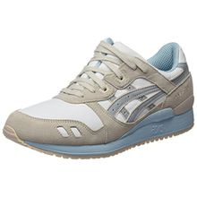 Asics Damen H6U9L Sneakers, Bianco (White/Light Grey), 42 EU