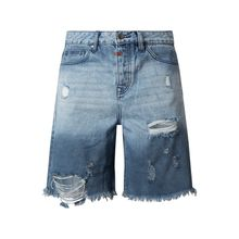 Straight Fit Jeansshorts aus Baumwolle Modell 'Mex'