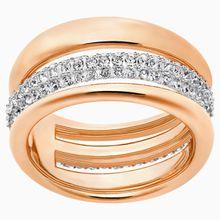 Exact Ring, weiss, Rosé vergoldet
