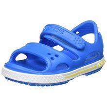 crocs Crocband II Sandal Kids, Unisex - Kinder Sandalen, Blau (Ocean/Tennis Ball Green), 22/23 EU