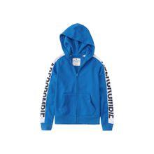 Abercrombie & Fitch Sweatjacke blau / weiß