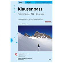 Swisstopo - 246 S Klausenpass - Skitourenführer Ausgabe 2015
