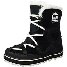 Sorel Glacy Explorer Damen Schneestiefel, Schwarz (Black), 40.5 EU