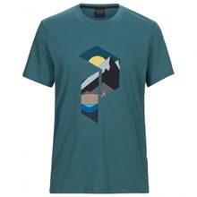 Peak Performance - Explore Tee Hill Print - T-Shirt Gr L;M;S;XXL schwarz;türkis