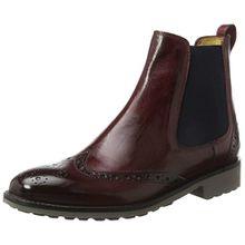 Melvin & Hamilton Damen Amelie 5 Chelsea Boots, Rot (Crust Burgundy, Ela. Navy, Rook D Grey), 41 EU