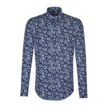 SEIDENSTICKER Hemd indigo / pastellblau / weiß