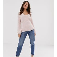Urban Bliss - Mom-Jeans mit hoher Taille - Blau