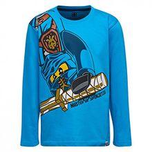 Lego Wear Jungen Langarmshirt Ninjago M-72170, Blau (Blue 538), Gr. 128