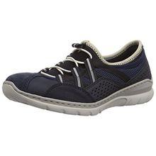 Rieker L3256 Women Low-Top, Damen Sneakers, Blau (pazifik/pazifik/marine/schwarz/beige/14), 40 EU