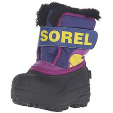 Sorel Childrens Snow Commander Unisex-Kinder Schneestiefel, Mehrfarbig (Grape Juice/Bright Plum), 23 EU