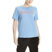 Bench Damen Core Logo T-Shirt August, Blau (Lichen Blue Bl11342), Small